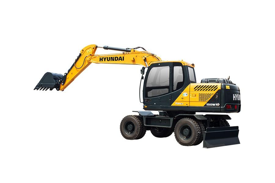 现代R150WVS轮式挖掘机