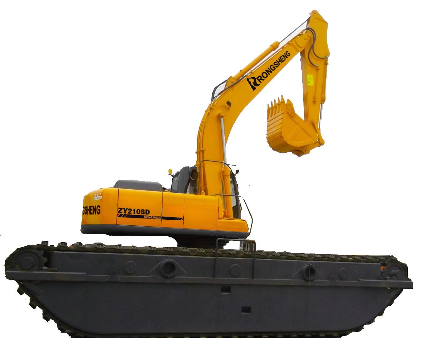 熔盛机械ZY210SDA湿地挖掘机