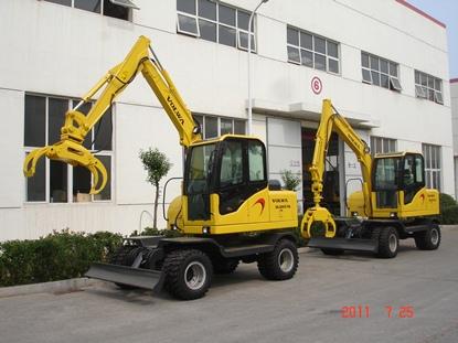沃尔华DLS865-9A轮式挖掘机(抓木器)