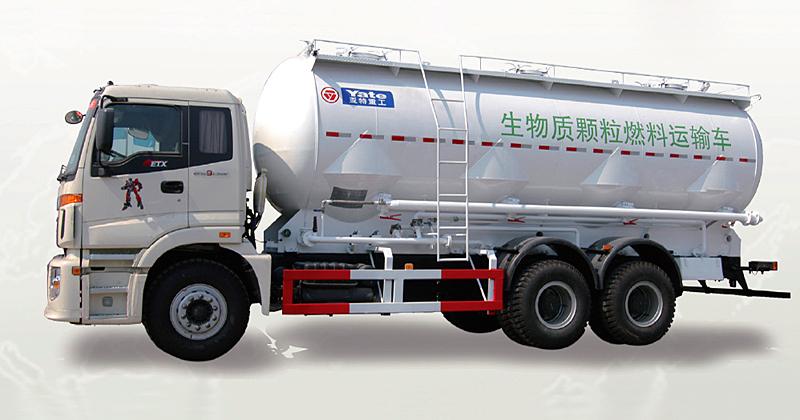 亚特欧曼37立方生物质颗粒运输车
