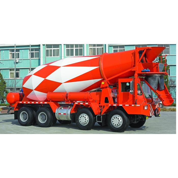 中国重汽前卸料混凝土搅拌运输车